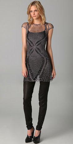 Jen Kao. Crochet Lace Tunic.