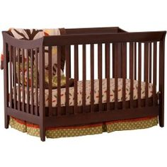Storkcraft Giovanna 2 inch-1 Fixed-Side Convertible Crib, Espresso: Limiting factor for using the Storkcraft Giovanna Espresso Convertible Crib is not age but height Maximum height for a child to use a crib is 35 Inch Converts from a crib into a full size bed (with separate purchase of a full-size, double-ended mattress rails) Solid, stationary sides offer security and stability
