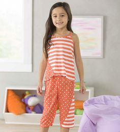 Polka Dots and Stripes Capri Pajamas 8f9276c7f