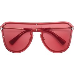 3e0985ec48c34 Versace Frenergy Visor sunglasses ( 290) ❤ liked on Polyvore featuring  accessories