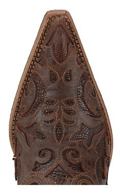 Corral® Ladies Tobacco w/ Tobacco Inlay Sharpey Western Boots   Cavender's Boot City