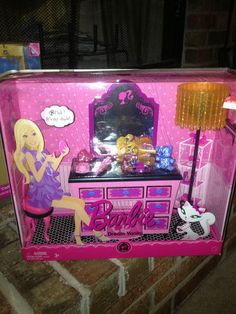 Barbie Pink Dream Vanity NIP with Lamp and Lots of EXTRAS 2008 Mattel | eBay