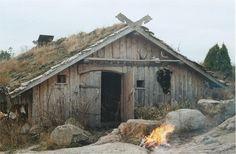 reconstruction of Viking-type house