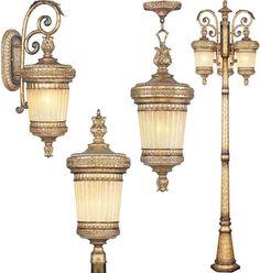 Livex La Bella Outdoor Lighting Outdoor Ceiling Lights, Gas Lights, Outdoor Wall Lantern, Hanging Lanterns, Outdoor Walls, Outdoor Lighting, Copper Lantern, Lantern Post, Sand Casting