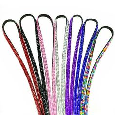 Rhinestone Crystal Bling Badge ID Key Holder Lanyard 1pc