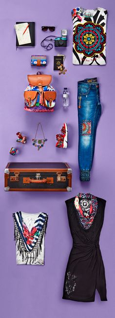 Need some holiday style inspiration? Time to update your summer capsule wardrobe? We have you covered! Pack your suitcase with Desigual this summer.