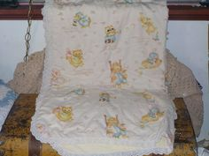 Sweet Crib Sz Baby Quilt hand tied Sweet  by Daysgonebytreasures