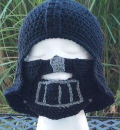 Inspired by Star Wars Darth Vader crochet hat and by jazmyn1006, $25.00