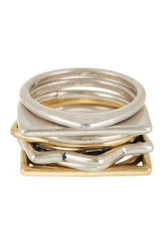 Mixed Stacking Ring Set - Size 7  by Lucky Brand on @HauteLook