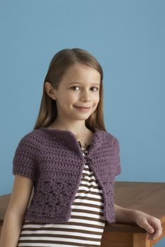 Crochet Pattern: Bebop Cardi SKILL LEVEL: Easy + SIZE:S (M, L) 6-8 yrs (9-10 yrs, 11-12 yrs)