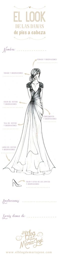Infografía para el look de las damas de la boda de pies a cabeza #bodas #ElBlogdeMaríaJosé #damasboda