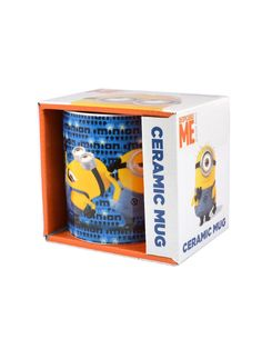 Boxed Minions Powered Ceramic Mug Minions Fans, My Minion, Minion Dance, Microwaves Uses, Despicable Me, Ceramic Mugs, Packaging Design, Product Packaging, Coffee Cans