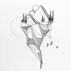 55 Ideas tattoo geometric lines illustration drawings Geometric Drawing, Geometric Lines, Geometric Animal, Geometric Sleeve, Geometric Flower, Tattoo Drawings, Cool Drawings, Sketch Tattoo, Tattoo Illustrations