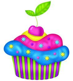 ‿✿⁀Cupcakes‿✿⁀ Cupcake Kunst, Cupcake Art, Cupcake Clipart, Food Clipart, Cupcake Pictures, Cupcake Images, Birthday Clipart, Birthday Cards, Happy Birthday