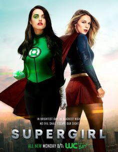 Supergirl and Green Lantern - tv Dc Comics Girls, Bd Comics, Marvel Girls, Marvel Dc, Mundo Superman, Supergirl Superman, Supergirl And Flash, Supergirl Season, Melissa Supergirl