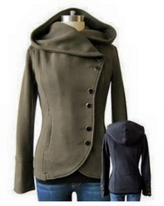 This jacket is adorable. I especially love the olive color. Would be perfect for those layering fall days. MARKET & SPRUCE #11630-229 Thebes Knit Asymmetrical Button Jacket!!