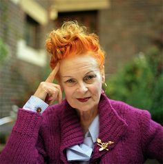 "I absolutely love Vivienne Westwood <3 ""The sexiest people are thinkers. Nobody's interested in somebody who's just vain with a hole in their head, talking about the latest thing — there is no latest thing. It's all rubbish."" Vivienne Westwood"