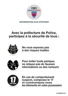 La Préfecture de Police communique :
