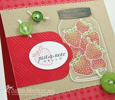 Friendship jar - would work great with the used stamp set I just picked up Love Stamps, Ink Stamps, Pot Mason, Mason Jars, Mason Jar Cards, Adult Crafts, Love Cards, Greeting Cards Handmade, Homemade Cards