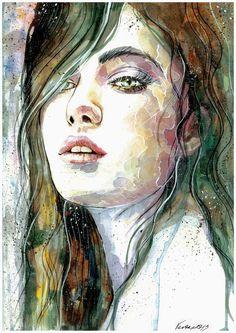 Amazing Portrait Paintings by Veronika Traditional Art potrait paintings inspirational art creative paintings