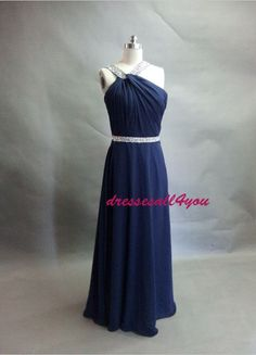 Straps Long Bridesmaid Dress,Bridesmaid Dress Chiffon