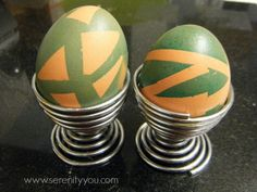 A piece of art reflecting the holiday:  Resist Art with Easter Eggs #spring #easter #art #kids