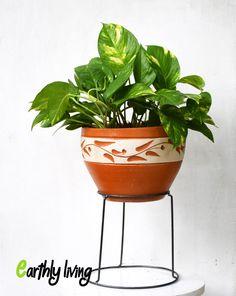 Wire Iron Flower Planter Holder Stand Green Office Home Outdoor Indoor Garden#4 #EarthlyLiving
