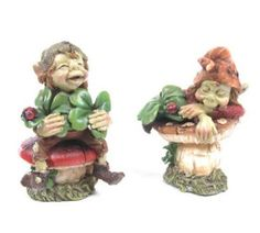 Jolly leprechaun-pixie figurines from enchanted emoporium.uk