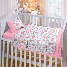 jogo-de-cama-baby-estampado-little-pets-rosa-buettner - Casa da Kite