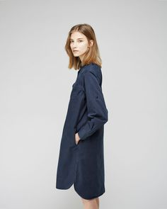 MHL by Margaret Howell Cotton Canvas Military Shirtdress
