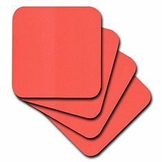 3dRose Hot Coral  Soft Coasters Set of 8 cst_44924_2 -- Be sure to check out this awesome product. (This is an affiliate link) #FurnitureBarCoasters