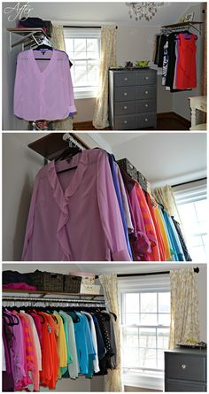 Click here to tour this gorgeous DIY dressing room / walk in closet