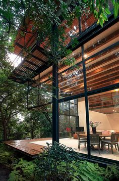 contemporary House Design > - Amazing contemporary House Design > - amazingarchitecture Industrial Modern House Designed to Promote the Outdoors and Active Lifestyle Casa Chipicas / Alejandro Sánchez García Arquitectos How To Design Exterior St Residential Architecture, Interior Architecture, Houses Architecture, Pavilion Architecture, Sustainable Architecture, Architecture Design Concept, Forest House, Forest Park, Modern House Design