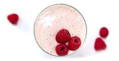 Raspberry Milk Shake OR substitute Peaches I use no sugar added vanilla ice cream!