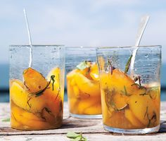 Peaches in Lilette ~ a great way to feel like you have splurged...without any regrets the next day!         Peaches in Lillet Recipe  at Epicurious.com