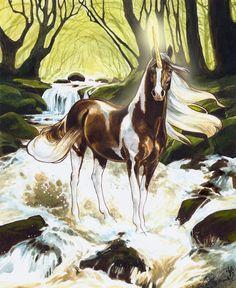 Bella Sara cards  www.heathertheurer.com All Mythical Creatures, Mythological Creatures, Magical Creatures, Fantasy Creatures, Beautiful Horses, Animals Beautiful, Beautiful Unicorn, Unicorn Pictures, Legends And Myths