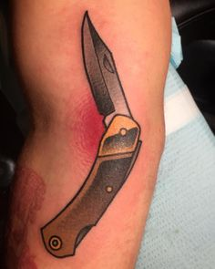 1337tattoos — fourthkindillustration: Old Timer pocket knife...
