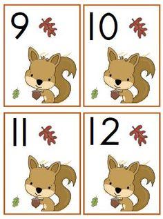 getalkaartjes herfst