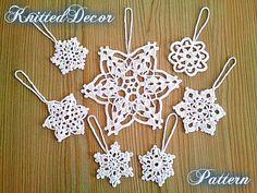 Crochet snowflakes pattern Crochet pattern DIY crochet