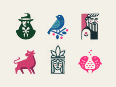 Faces & Creatures designed by Jano . Connect with them on Dribbble; the global community for designers and creative professionals. Graphic Design Branding, Logo Branding, Logo Design Inspiration, Icon Design, Badge Design, Creature Design, Cool Logo, Creatures, Behance