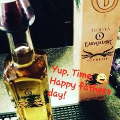 This made Dad happy on Father's  Day.  Treat your dad right and get him the good stuff! #fathersday #tequila    #Regram via @tequilaembajador