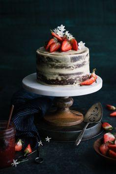 Strawberry Vanilla Almond Cream Layer Cake - The Kitchen McCabe