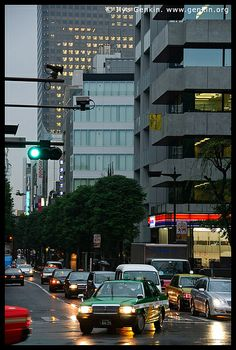 Tokyo Street at Night, Shiba Park, Minato, Tokyo, Kanto Region, Honshu Island, Japan