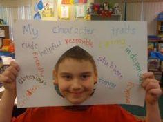Mijn karakter, leuk de kinderen over zichzelf te laten schrijven, of de kinderen over elkaar.