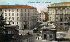 I vecchi caselli di Porta Monforte, tra piazza Monforte (oggi piazza del Tricolore) e corso Monforte