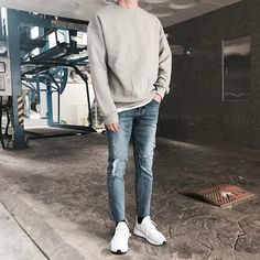 mens Jeans – High Fashion For Men Stylish Mens Outfits, Casual Outfits, Men Casual, Fashion Outfits, Guy Outfits, Korean Fashion Men, Korean Men, Mens Fashion, Fashion Hashtags