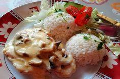 Kuracie prsia so syrom, smotanou a šampiňónmi zapečené v rúre Food And Drink, Meat, Chicken, Cubs