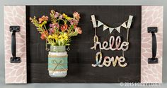 Handwritten chipboard words make a lovely addition to any craft project!