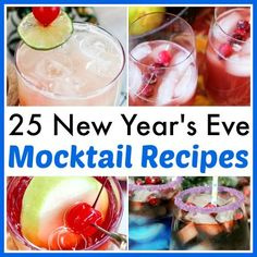 Have a fun, family-friendly New Year's Eve party with some of these delicious New Year's Eve mocktail recipes! You have to give these homemade drinks a try!