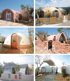 Dome house design by International Dome House Inc Japan Design, Monolithic Dome Homes, Dome House, Earthship, Maker, Japanese House, Prefab Homes, Building Materials, Building Ideas